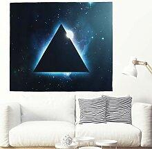 Psychedelische Dunkel Dreieck mit Blau Licht