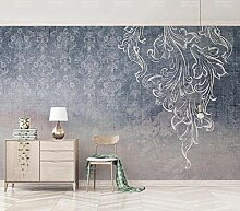 Ptcta Tapete Nordic IKEA einfache Art Marineblau