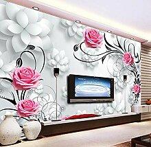 Ptcta Tapete Rose3DStereo Flower TV