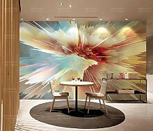 Ptcta Tapete stilvolle abstrakte Farbe TV