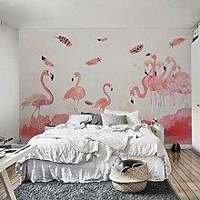 Ptcta Tapete Vliestapete Pink Flamingo Hintergrund