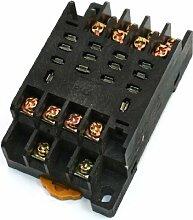 PTF14A 14Terminals 35mm DIN-Schiene Power Relay Sockel für LY4NJ