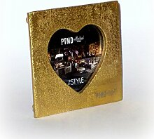 PTMD Bilderrahmen 'Herz' aus Aluguss gold