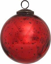 PTMD Christbaumkugel aus Glas rot 10 cm