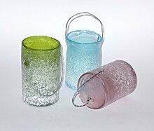 PTMD Windlicht 'Milly' aus Glas 10 cm 3er-Se