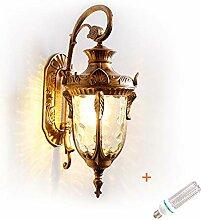 PTTEDENG Retro Wasserdicht Wandlampe,Retro