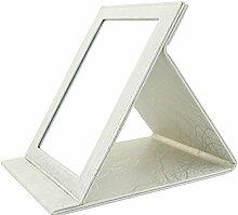 PU große Leder-Spiegel Desktop-Spiegel Spiegel Handspiegel Portable-I