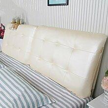 PU Nachttisch Kissen Sofa Rückenpolster Langes Kissen Rückenlehne Kissen Soft Tasche Kein Bett ( Farbe : No bedside-D , größe : 180*60cm )