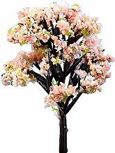 PU Ran Miniatur Baum Pflanzen Zubehör Puppenhaus DIY Craft Fairy Garden Ornament, #1, Pink Flower Tree