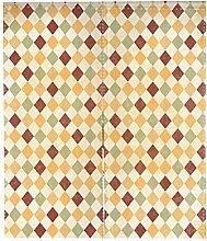 Pu Ran s¨¹?e Blumen Pflanze Muster Raumteiler T¨¹rgleis Vorhang Dekor mit Spannstange - 15 # 85cm x 140cm