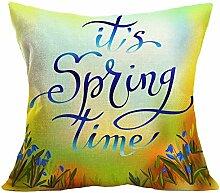 PU Ran Überwurf Kissenbezug Fall mit Frühling Greenery Lavendel Fruit Flower drucken Home Dekorieren, # C, M
