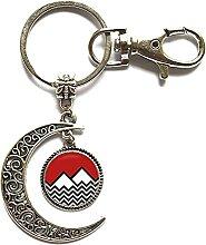 PU358 Schlüsselanhänger aus Glas mit