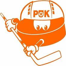 Puck Aufkleber 004, 50 cm, orange