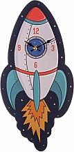 Puckator ckp100Design Wanduhr Rakete Holz MDF blau/orange/gelb