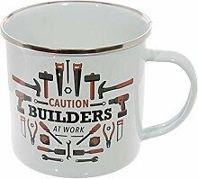 Puckator tmug01Becher emailliert Design Builders