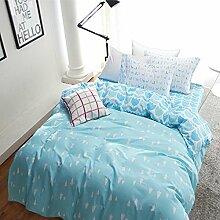 Pudding blau Bettwäsche Kinder Bettwäsche Teen Betten Betten Wohnheim Geschenkidee, baumwolle, blau, Volle Größe
