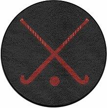 Puffy - Motiv, Field Hockey, Fußmatte, Teppich, Fußmatte, für Esszimmer, Schlafzimmer, Küche, Balkon