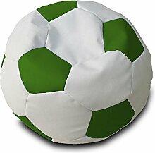Pufmania?Fußball Sitzsack - weiß/grün