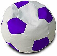 Pufmania?Fußball Sitzsack - Weiß/Lila