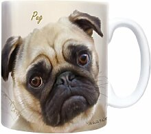 Pug - Mops - Sepia - Mug - Becher - Chopes