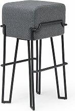 Puik - Bokk Barhocker H 76 cm, schwarz / grau