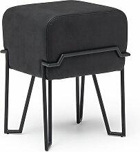 Puik - Bokk Hocker H 52 cm, schwarz / Leder schwarz