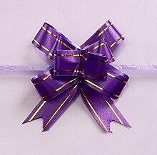 Pull Bögen 100PCS Urlaub Hochzeit Girlande Schmetterling Hochzeit Dekoration Band Girlande, violett, 1.7*35cm