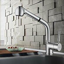 Pull-typ Wasserhahn Küchenarmatur Alle Kupfer