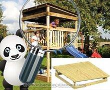 Pultdach aus Holz für Giga Spielturm, 223x223cm - Kinderspielgeräte für Garten, Spielgeräte für Kinder, Spielturm, Spieltürme