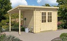 Pultdach Gartenhaus Renate-28 mit Schleppdach Imprägnierung ab Werk ohne Imprägnierung