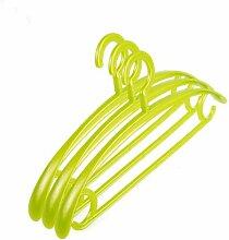 PuMaple 10 Stück,Kleiderbügel Kunststoff - Farben bunt gemischt , plastic hook green