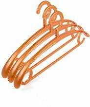 PuMaple 10 Stück,Kleiderbügel Kunststoff - Farben bunt gemischt , plastic hook gold
