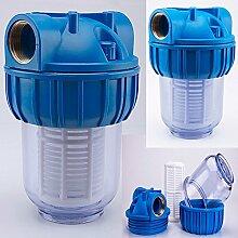 Pumpenfilter Wasserfilter Teichfilter 3000 l/h + GRATIS Pumpenschlüssel