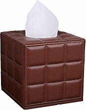 Pumpfach Lattice Square Roll Tray Pumping Kartons Serviette Papier Rollen Papier Tube Tissue Box 13 * 13 * 13CM Papierbehälter ( Farbe : E )