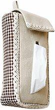 Pumpfach Tuch Hängen Tissue Box Tissue Taschen Serviette Karton Einfache Pumping Kartons Wohnzimmer Badezimmer Papierbehälter ( Farbe : A )