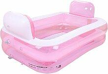 Pumpink Aufblasbare Badewanne Faltbare Badewanne Verdickt Erwachsene Wanne Kinder Wanne Bad Fass Kunststoff Portable Swimming Pool Fass Eimer ( Color : Pink )