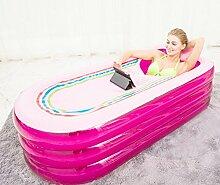 Pumpink Aufgeblasen Badewanne Erwachsene Verdickung Sitzbäder Badewannen Haushalt Falten Große Badewanne Becken Fass Fass Eimer Tragbare Pool 168 cm * 78 cm * 48 cm (L * B * H) ( Color : Pink )
