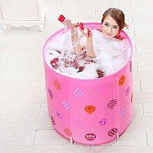 Pumpink Verdickung Home Badewannen Badewannen Erwachsene Badewannen Kinder Badewannen Shop Faltbare Badewannen 70 * 70cm ( Color : Pink )