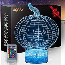 Pumpkin 3D-Illusionslampe, 3D-Nachtlicht, 16
