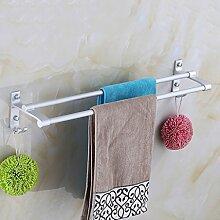 Punch-Raum Aluminium Handtuchhalter Handtuch doppelte Tuchhängestangen Badezimmer Accessoires Rack ( größe : 40 cm )