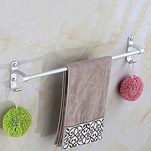 Punch-Raum Aluminium Handtuchhalter Handtuchhalter Einzel Handtuch hängen Stangen Badezimmer Accessoires ( größe : 50 cm )