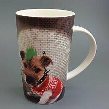 Punk Dog - Terrier - Mug - Becher - Latte