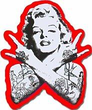 Punk Marilyn Monroe Aufkleber für Skateboards,