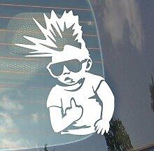 Punk on Board Baby Auto Drift Bumper Window Funny Vinyl Van Laptop Love Herz Decor Home Live Kids Funny Art Wand Aufkleber Aufkleber Motorrad
