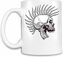 Punk skull Kaffee Becher