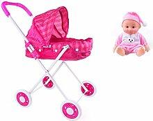 Puppenwagen Lauflernhilfe Mit Puppen Klappbar