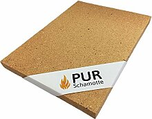 PUR Schamotte Schamottplatte 400 x 300 x 20 mm 1