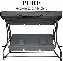 Pure Home & Garden 4-Sitzer XXL Hollywoodschaukel