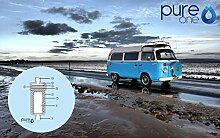 Pure One ALL-IN Wasserfilteranlage Typ: WOMO | Der Outdoor Wasserfilter für Keime und Bakterien im Wasser | Zur Wasseraufbereitung und zur Verbesserung des Wasserqualität in 5 Stufen.