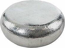 Pureday Couchtisch Vintage Look rund Aluminium ca.